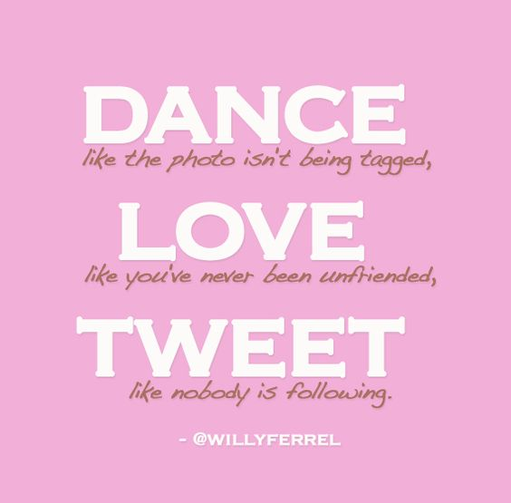 dance, love, tweet