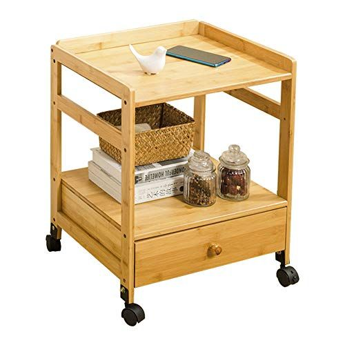 Tables Side Table Movable Side Cabinet Lockable Universal Wheel