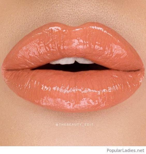 Glossy Orange Lips Orange Lips Beautiful Lipstick Beautiful Lips