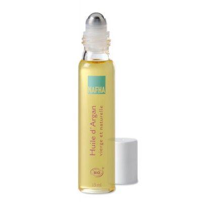 NAFHA - Roll-on Olio d'Argan vergine e naturale   L'Olio d'Argan vergine cosmetico NAFHA addolcisce la pelle, le mani sono morbide, i piedi riposati, le unghie rafforzate e i capelli setosi.  Confezione da 15 ml.