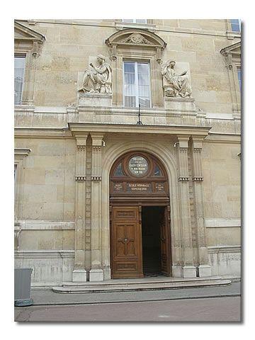 L'Ecole Normale, rue d'Ulm, bâtie sur les anciennes vignes du couvent des ursulines du faubourg St-Jacques de Paris.