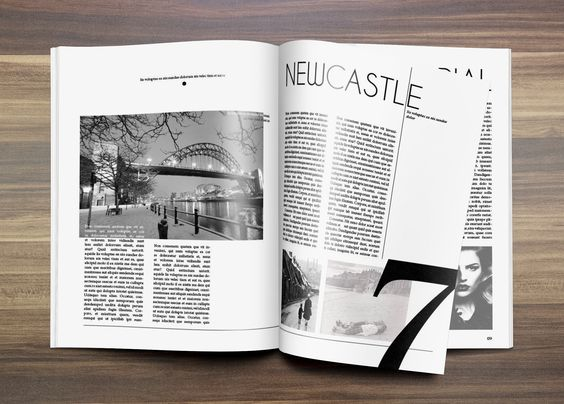 Editorial Design piece based on Newcastle.