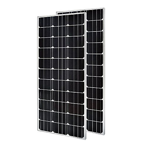 2 Pieces Of Hqst 100 Watt 12 Volt Monocrystalline Solar Panel Slim Design Solar Panels Monocrystalline Solar Panels Solar Design