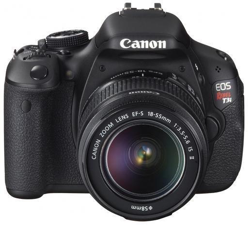 EOS Rebel T3i Black SLR Digital Camera Kit w/ 18-55mm Lens (18 MP, 3x Opt, SD/SDHC/SDXC Card Slot)