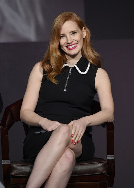 Jessica Chastain attends The Pirelli Calendar Presents: Peter Lindbergh On Beauty panel at Cipriani Wall Street on February 13, 2017 in New York City.
