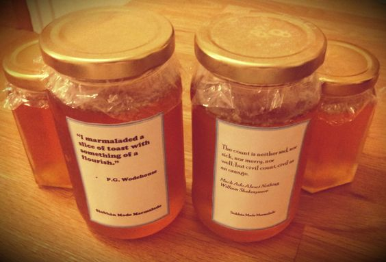 Seville orange marmalade with literary quotes
