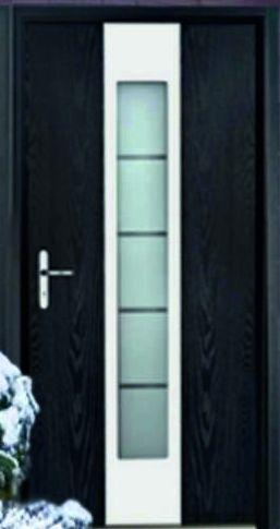Входные теплые двери Стальная линия Nord No Frost с остеклением