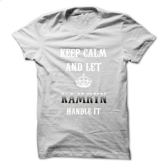 Keep Calm And Let KAMRYN Handle It.Hot Tshirt! - #funny t shirts for men #hoodie sweatshirts. I WANT THIS => https://www.sunfrog.com/No-Category/Keep-Calm-And-Let-KAMRYN-Handle-ItHot-Tshirt.html?id=60505