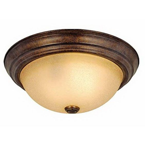 Vaxcel Lighting CC25111 RBZ Two Light Flush Ceiling Mount in Royal Bronze Finish
