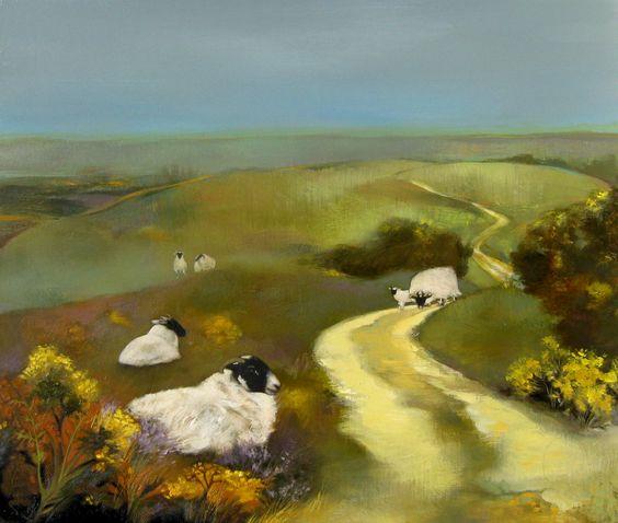 Blackies on the Lammermuirs by Lesley McLaren: