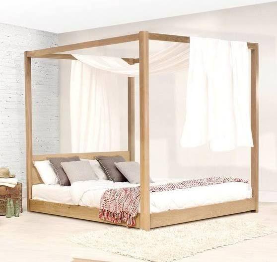 Cal King Four Post Platform Bed Frame Bed Frame Bed Timber Bed