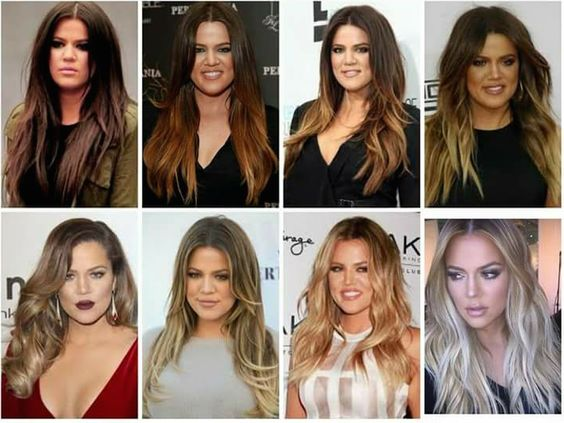 Khloe Kardashian hair transformation... maybe someday I'll go blonde