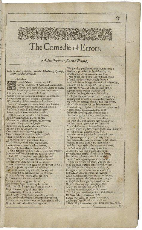 The Comedy Of Error Folger Shakespeare Library Merchant Venice Merchants Critical Essay