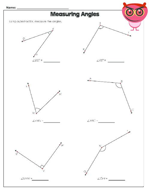 Continue The Practice Of Using A Protractor With Six More Angles On This Free Worksheet On Na Angles Worksheet Geometry Worksheets Shape Tracing Worksheets