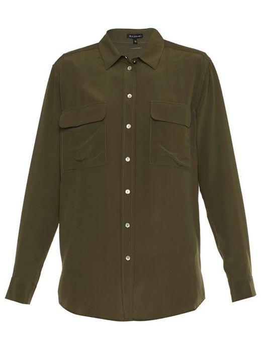 Muito Amor!!   Camisa Military Seda CA LUCIA MILITAR- MILITAR-38  MAIS DETALHES!  http://imaginariodamulher.com.br/look/?go=2ciNPvb
