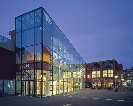 Mediatheek Delft / Dok Architecten #reuse #refurbish #glass #brick