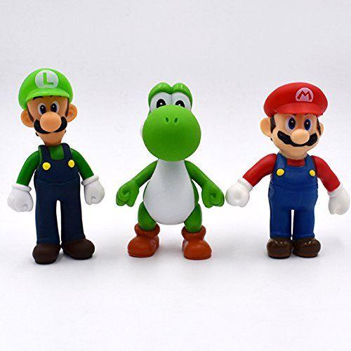 "Lot 5 pcs Super Mario Bros Brothers Mario Luigi Yoshi Toy Action Figures 5/"" 13cm"