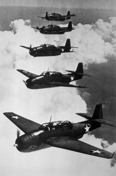 A formation of American Navy Avenger planes the versatile torpedobombers that have helped rout the Japanese naval force in several battles in the Pacific.