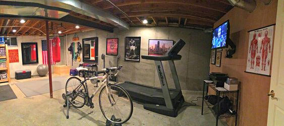 Home Gym Ideas Basement Unfinished Google Search