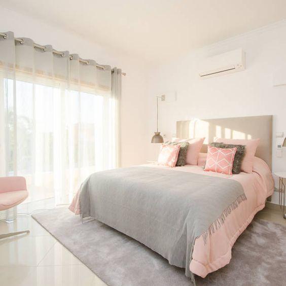 Inspiração: decor para  quarto de casal clean