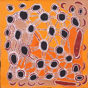 Papunya Tula Artists PTY. LTD. Artist:Tatali Nangala Size:91 X 91cm Stock…