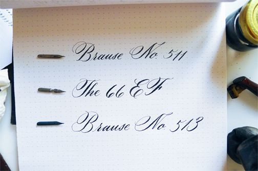 Review Of Brause Pen Nibs For Calligraphy Lettering