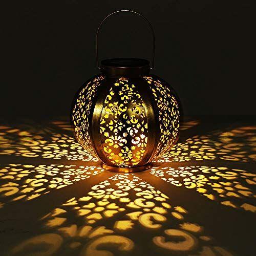 Lampe Solaire DEL Lampion gris 30 cm jardin-Eclairage Jardin Deco Fête Lanterne