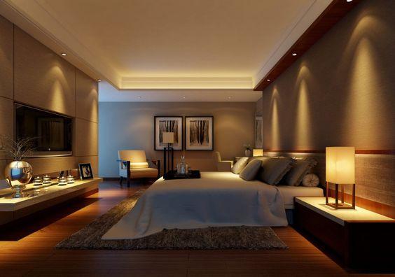Dise o de iluminaci n pintar alfombra and dormitorio - Dormitorios colores calidos ...