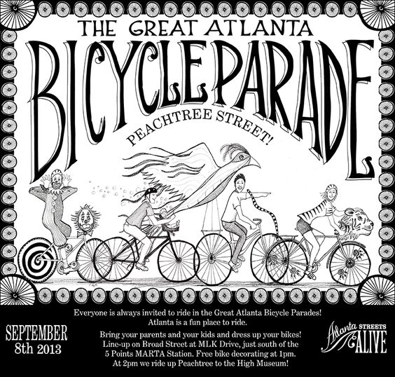 Great Atlanta Bicycle Parade | September 8, 2013