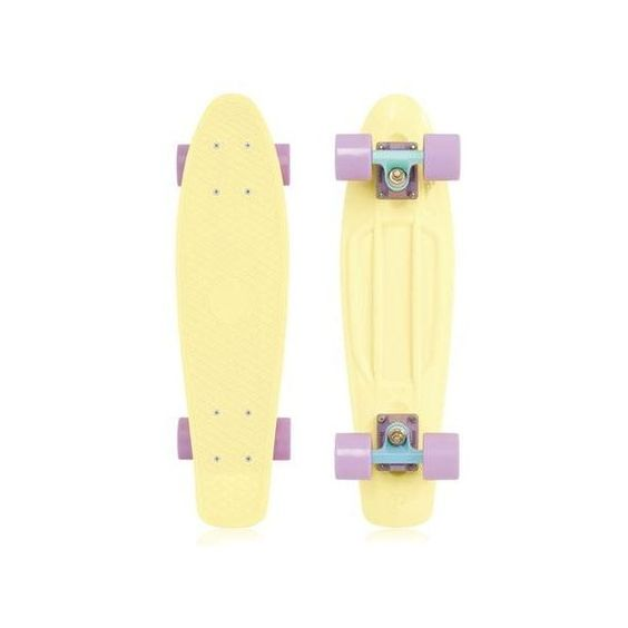 Penny Skateboards Penny Skateboard Pastel 22 COMPLETE Lemon Skateboard... ($94) ❤ liked on Polyvore featuring fillers, accessories, items, skateboards and yellow fillers