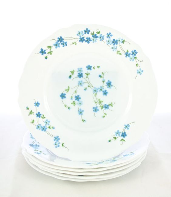 French White Milk Glass Dinner Plates Dinnerware Dishes Set Made in France Forget Me Not  sc 1 st  Pinterest & Milk glass Dinner plates and Dish sets on Pinterest