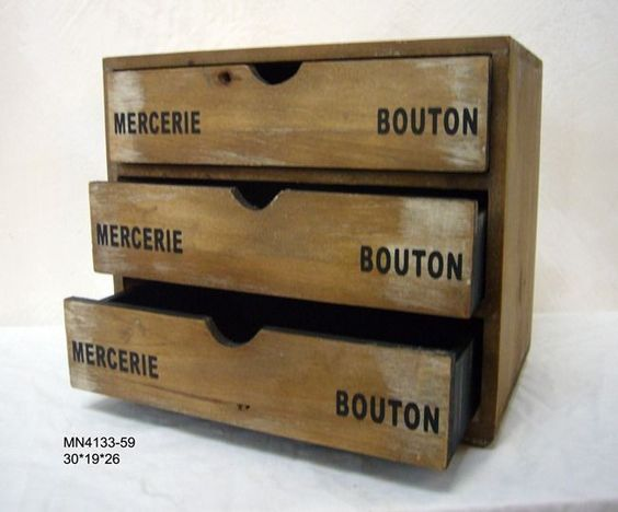 Homewares Bouton Storage Drawers 30 x 19 x 26cm