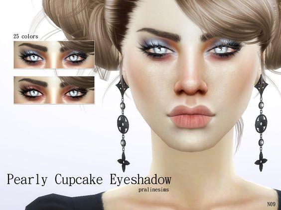 Pearly Cupcake Eyeshadow N09 by PralineSims. Delicate eyeshadow in 25 colors.