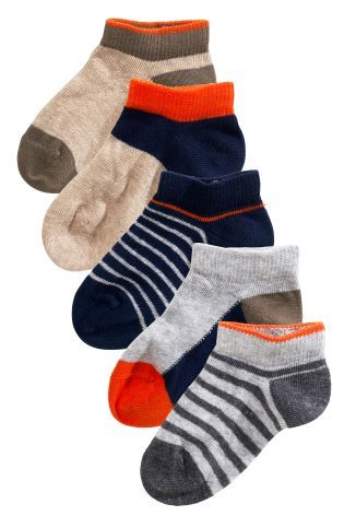 Multi Colour Block Trainer Sock Five Pack (Younger Boys), Next, 6euro.