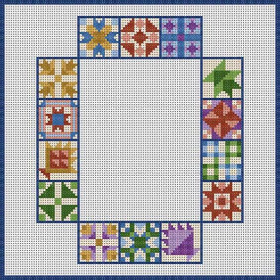 Quilt Block 820 Cross Stitch Alphabet Quilt Block Pinterest Products, Quilt and Quilt blocks