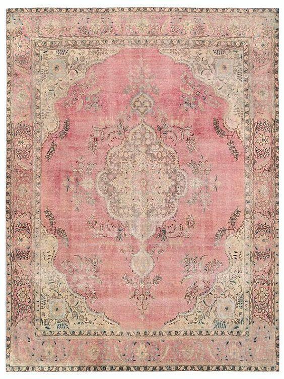 Vintage Persian Rug 12.4 X 9.4 FT 377 X 287 CM by RetroRugs