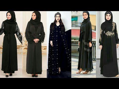 أجمل عبايات سوداء للخروج و المناسبات حصرى كولكشن عبايات سوداء شيك جدا Youtube Abaya Fashion Fashion Dresses