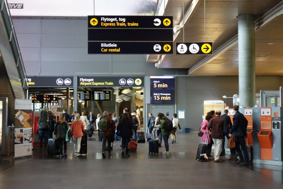 Oslo Airport Sign
