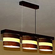 Pendant, 3 Light, Contemporary Minimalist Met... – USD $ 149.99