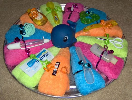 Diaper Pizza Bright Baby Showers Baby Gifts And Pizza