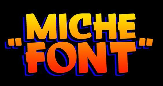 Prueba de una tipografía en proceso, «Miche Font»