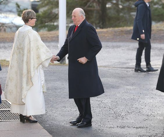 Norwegian Royal Family attend christmas ceremony of the church