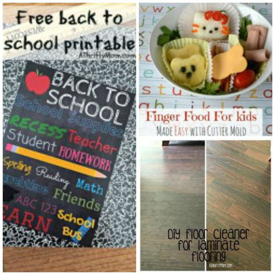 Bento box lunch, back to school printable, floor cleaner for laminate flooring