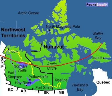 cities in nunavut on a map