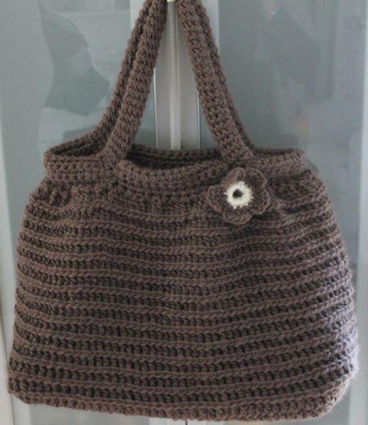 Handtasche - Häkel Tasche braun - ein Designerstück von Creatina-made bei DaWanda