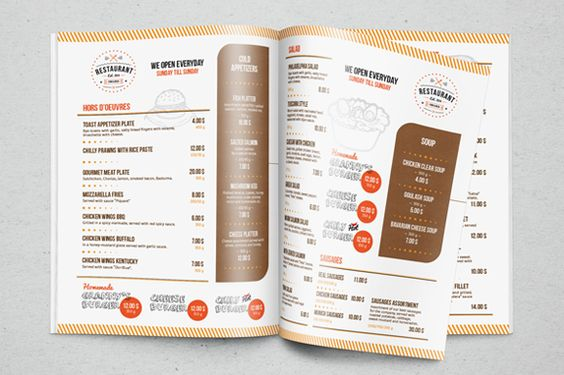 Restaurant Menu Template by EverydayTemplate on Creative Market - microsoft word restaurant menu template