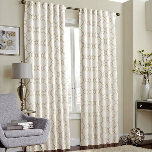 Ginther Geometric Max Blackout Thermal Rod Pocket Curtains Drapes Panel Curtains Rod Pocket Curtains Curtains