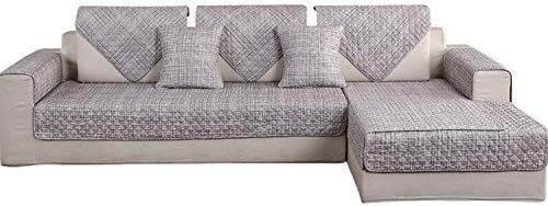 Hotniu 1 Piece Non Slip Quilted Sectional Sofa Slipcover Cotton L Shape Couch Cover Multi Size Sofa Shield U Sectional Sofa Slipcovers L Shaped Couch Couch