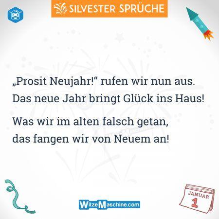 Silvestersprüche - Lustige Silvester Sprüche - Prosit Neujahr
