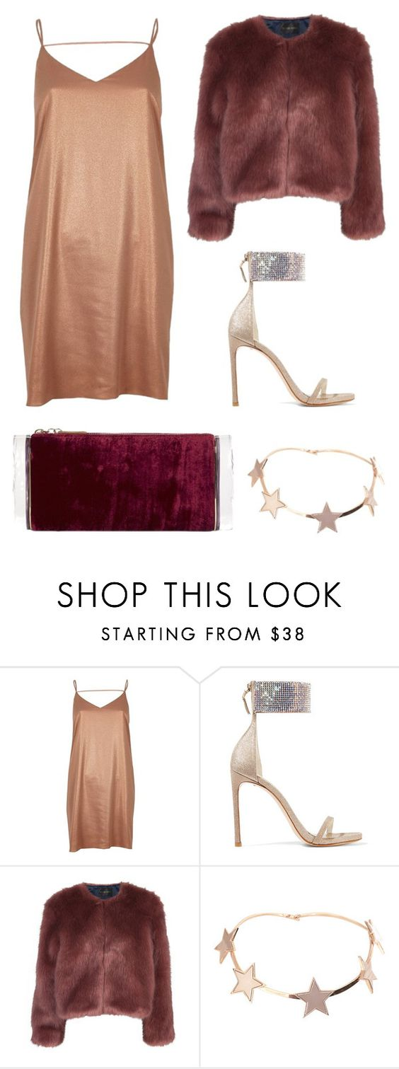 """Untitled #371"" by m-svarstad on Polyvore featuring River Island, Stuart Weitzman, Stine Goya, Givenchy and Edie Parker"